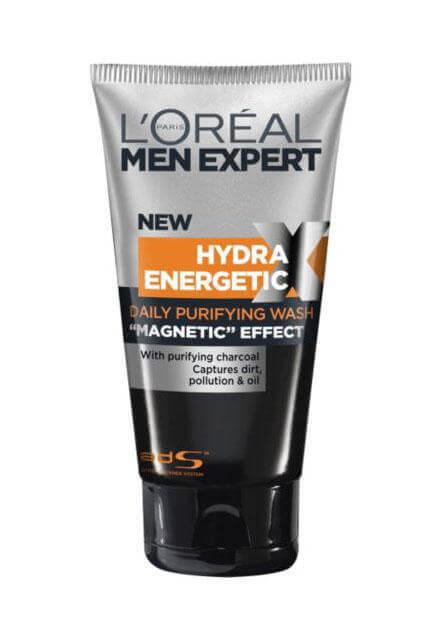 Loreal Men Expert Hydra Energetic Magnetic Charcoal i gruppen Man / Hudvård för män / Rengöring för män hos Bangerhead (21100065)