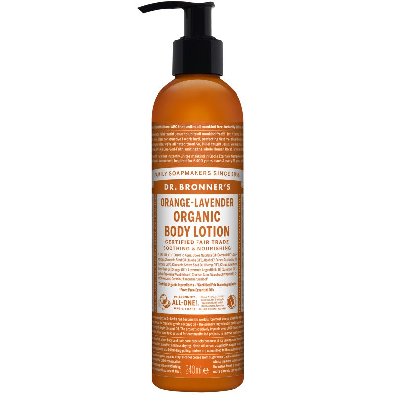 Dr. Bronner's Lotion Orange Lavender 237 ml