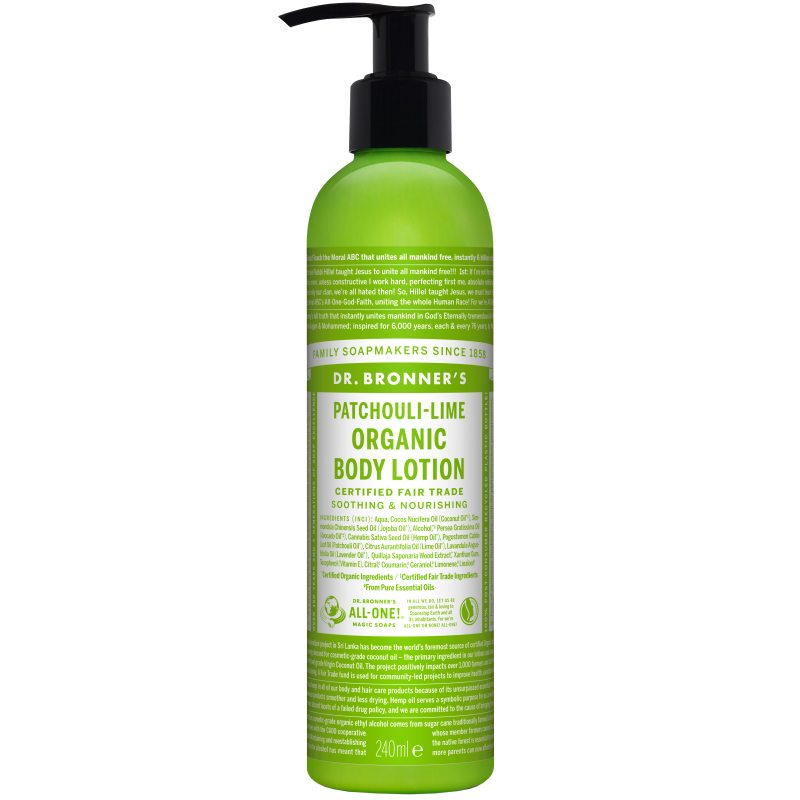Dr. Bronner's Lotion Patschouli Lime 237 ml