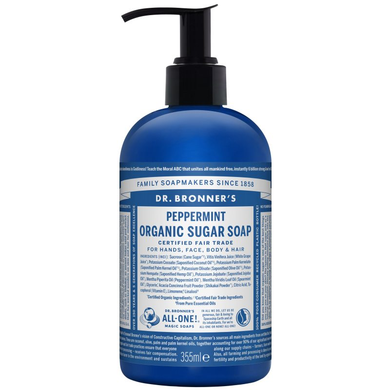 Dr. Bronner's Shikakai Soap Spearmint Peppermint 355 ml i gruppen Kroppspleie & spa / Kroppsrengjøring / Bad & dusjkrem hos Bangerhead.no (B001302)