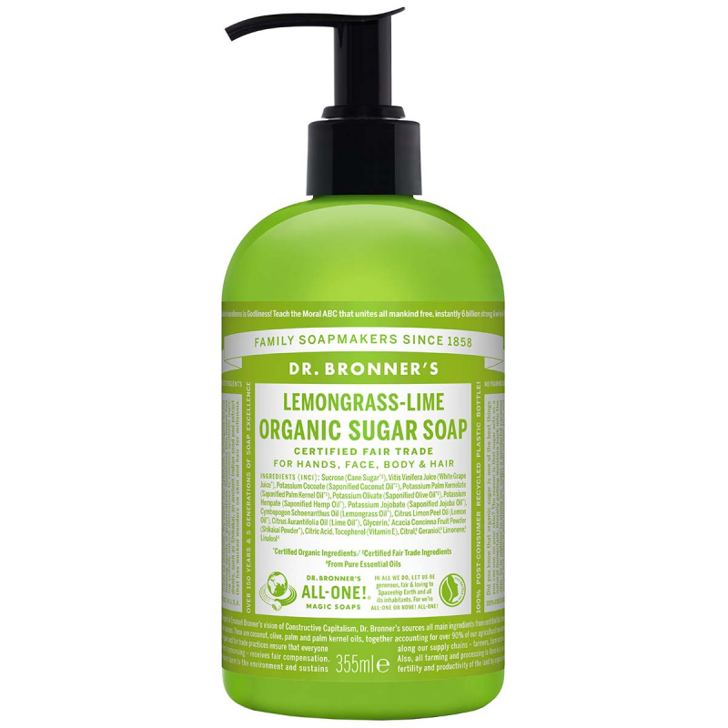 Dr. Bronner's Shikakai Soap Lemongrass Lime 355 ml