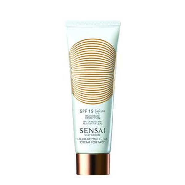 Sensai Silky Bronze Cream For Face Spf 15 (50ml) i gruppen Hudvård / Sol & tan för ansikte / Solskydd & hudkräm med SPF hos Bangerhead (B007913)