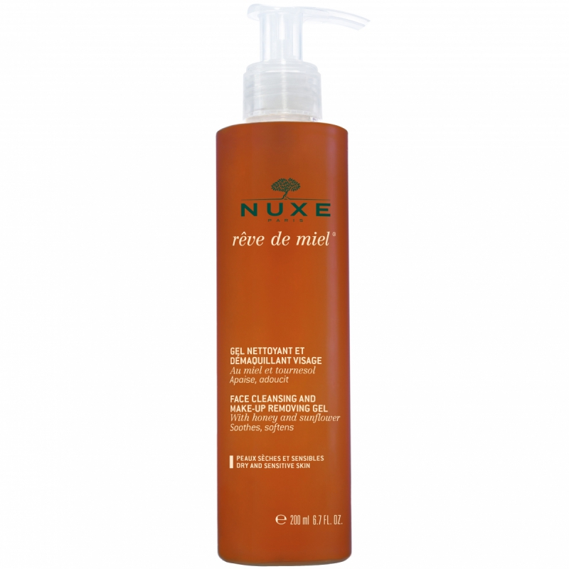 NUXE Face Cleansing and Make-up Removing Gel (200ml) i gruppen Hudvård / Ansiktsrengöring / Sminkborttagning hos Bangerhead (B008325)