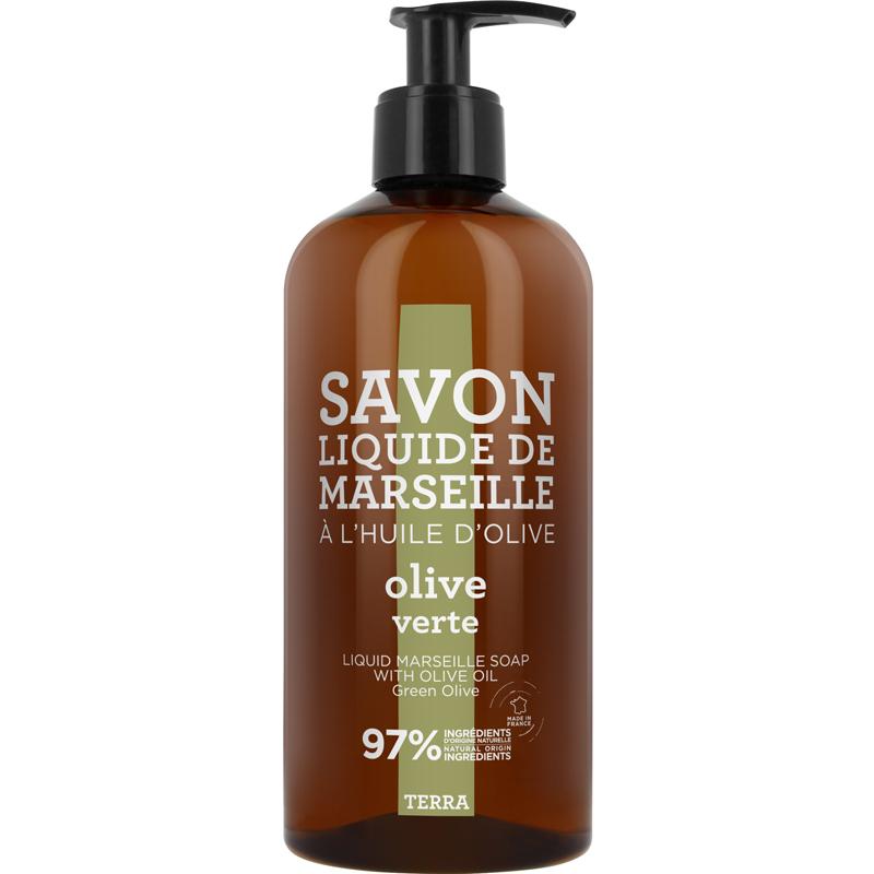 Savon de Marseille Liquid Soap Green Olive (500ml)