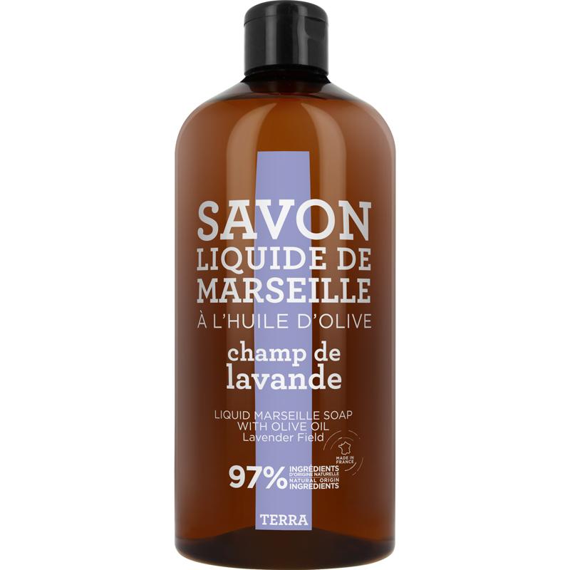 Compagnie de Provence Savon de Marseille Liquid Soap Lavender Field Refill (1000ml) i gruppen Kroppsvård / Handvård & fotvård / Handtvål hos Bangerhead (B009339)