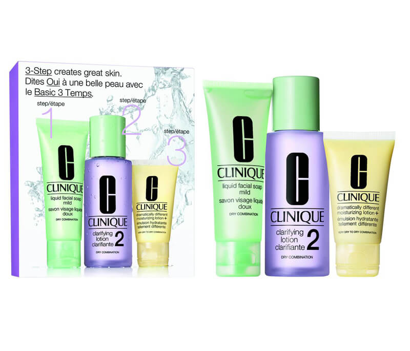 Clinique 3-Step Skin Care Intro Set, Skin Type 2 (180ml) i gruppen 3-Steg / Steg 3 - Återfukta hos Bangerhead (B010655)