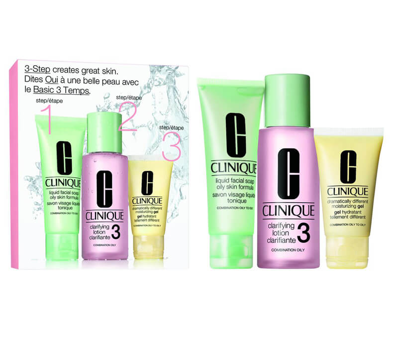 Clinique 3-Step Skin Care Intro Set, Skin Type 3 (180ml) i gruppen 3-Step / Step 3 - Moisturize hos Bangerhead.no (B010656)