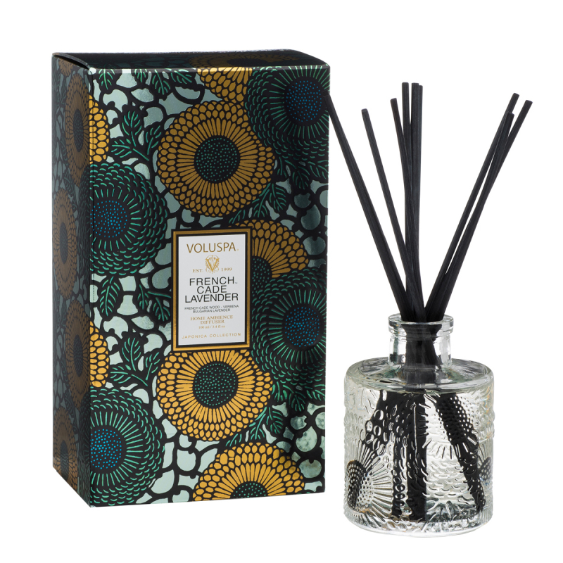 Voluspa Reed Diffuser French Cade & Lavender (100ml) i gruppen Parfyme / Hjem / Duftspredere hos Bangerhead.no (B012011)