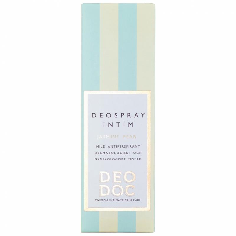 DeoDoc Deospray Intimate Jasmine Pear (50ml) ryhmässä Tuoksut / Naisten tuoksut / Deodorantit naisille at Bangerhead.fi (B012172)
