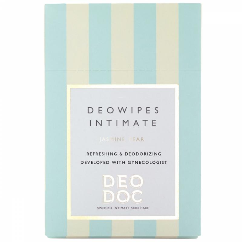 DeoDoc Intim Wipes Jasmine Pear (10pcs) ryhmässä Tuoksut / Naisten tuoksut / Deodorantit naisille at Bangerhead.fi (B012173)