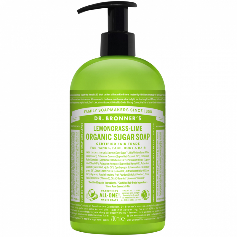 Dr. Bronner'S Shikakai Soap - Lemongrass Lime (709ml)