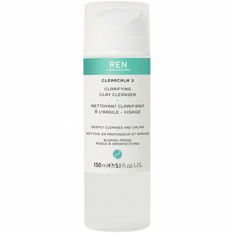REN Clear Calm 3 Clarifying Clay Cleanser (150ml) i gruppen Hudvård / Ansiktsrengöring / Rengöringsbalm hos Bangerhead (B013010)