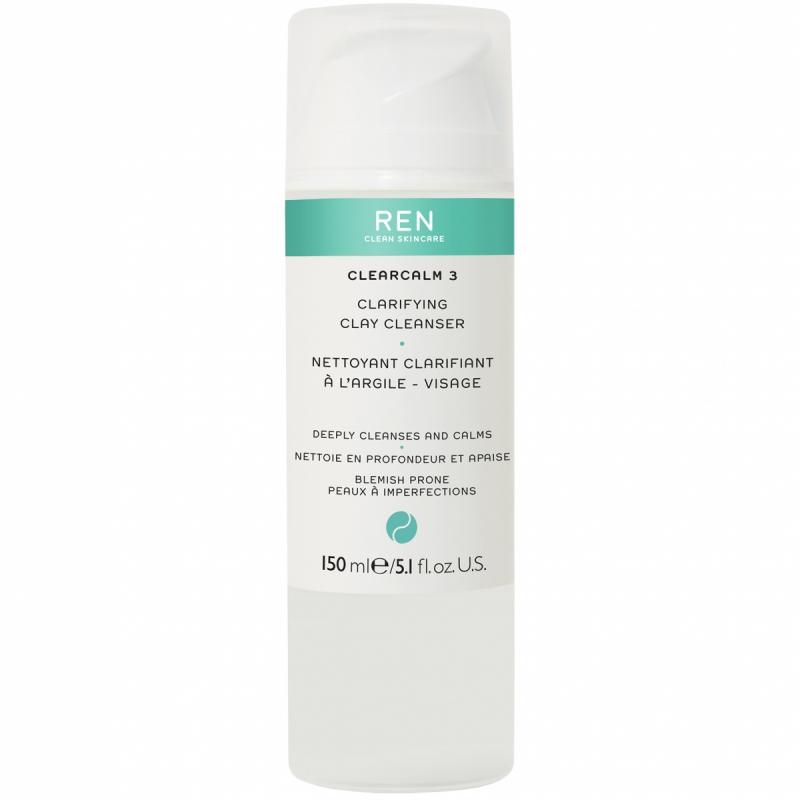 REN Clear Calm 3 Clarifying Clay Cleanser (150ml)