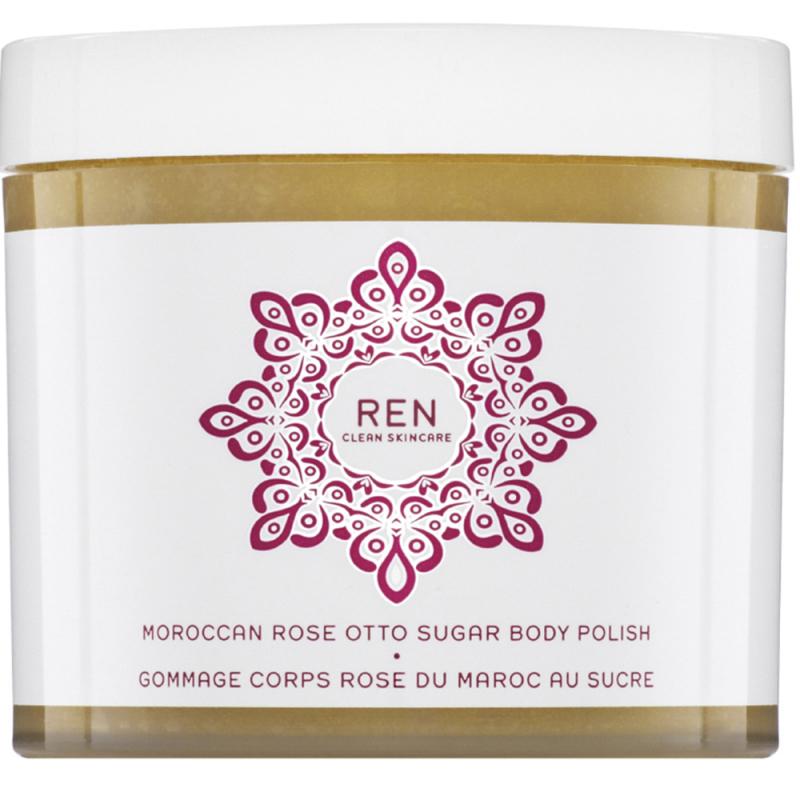 REN Moroccan Rose Otto Sugar Body Polish (330ml) i gruppen Kropp & spa / Kroppsrengjøring / Body scrub & peeling hos Bangerhead.no (B013028)