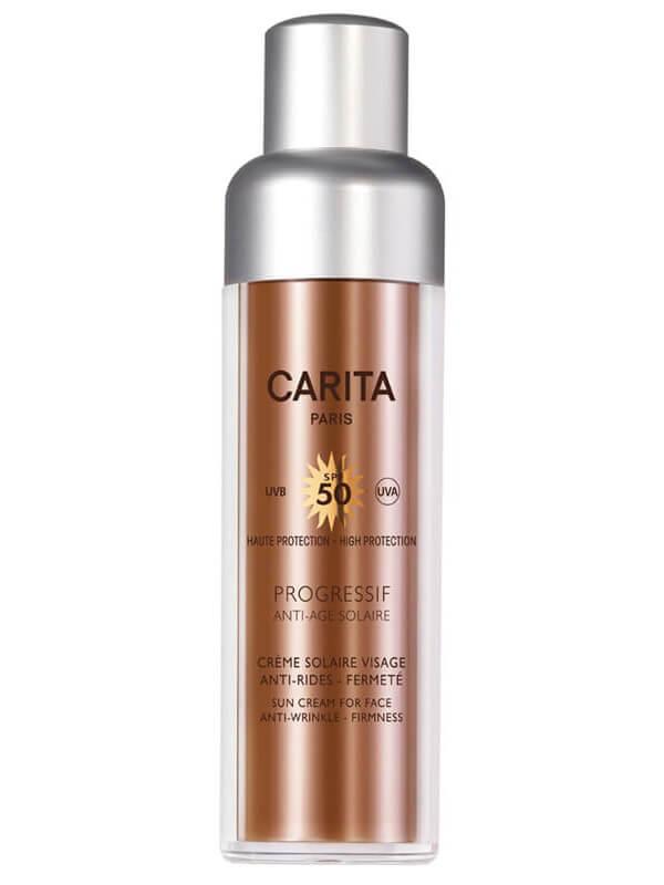 Carita Protect & Correct Sun Cream For Face Spf 50 (50ml) i gruppen Hudpleie / Sol & tan for ansikt / Solkrem & hudkrem med SPF hos Bangerhead.no (B013115)