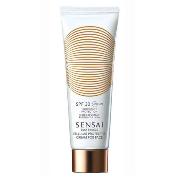 Sensai Silky Bronze Cream For Face SPF30 (50ml) i gruppen Hudpleie / Sol & tan for ansikt / Solkrem & hudkrem med SPF hos Bangerhead.no (B014037)