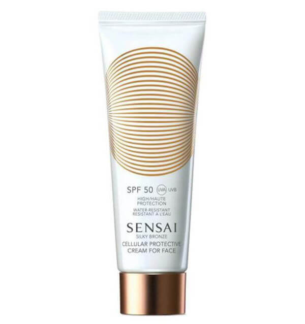 Sensai Silky Bronze Cream For Face SPF50 (50ml) i gruppen Hudpleie / Sol & tan for ansikt / Solkrem & hudkrem med SPF hos Bangerhead.no (B014038)