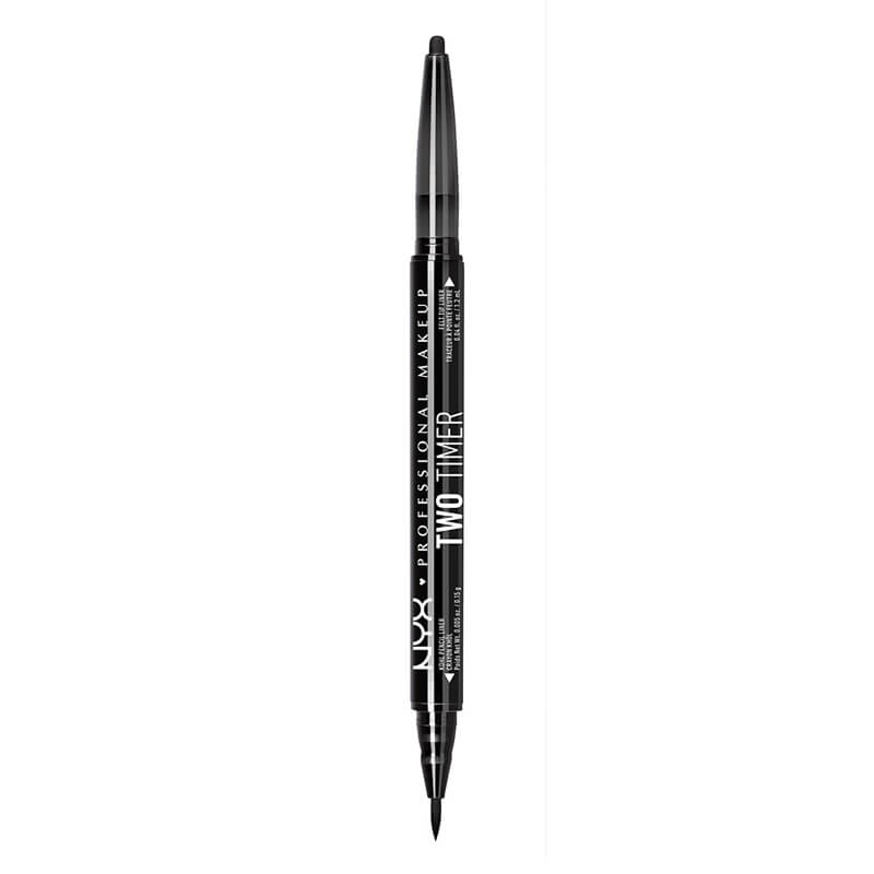 NYX Professional Makeup Two Timer - Dual Ended Eyeliner - Jet Black