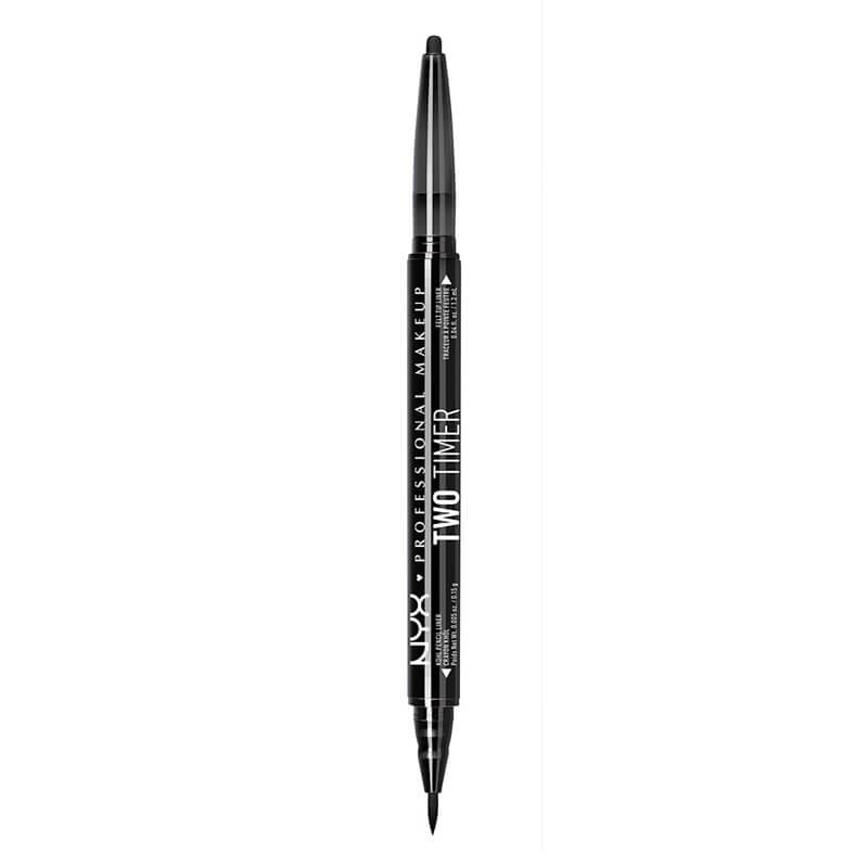 NYX Professional Makeup Two Timer - Dual Ended Eyeliner - Jet Black
