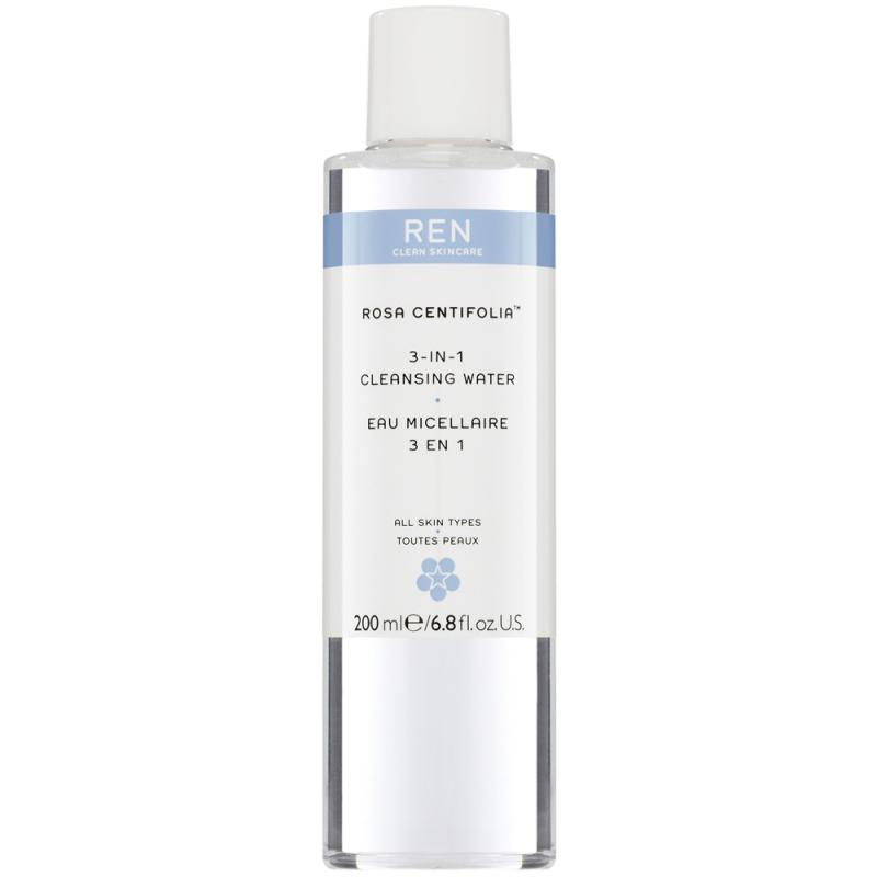 REN Rosa Centifolia 3-In-1 Cleansing Water (200ml) i gruppen Hudpleie / Mists, essences & toners / Ansiktsvann & toner hos Bangerhead.no (B014483)