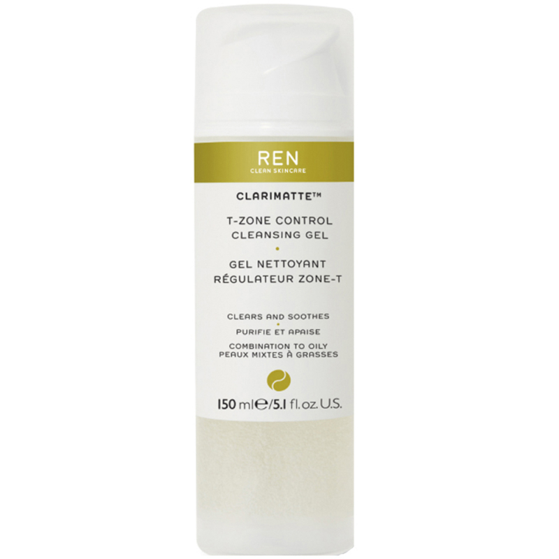REN Clarimatte T-Zone Control Cleansing Gel (150ml)