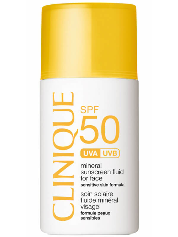 Clinique SPF 50 Mineral Sunscreen Fluid For Face i gruppen Hudpleie / Sol & tan for ansikt / Solkrem & hudkrem med SPF hos Bangerhead.no (B016754)