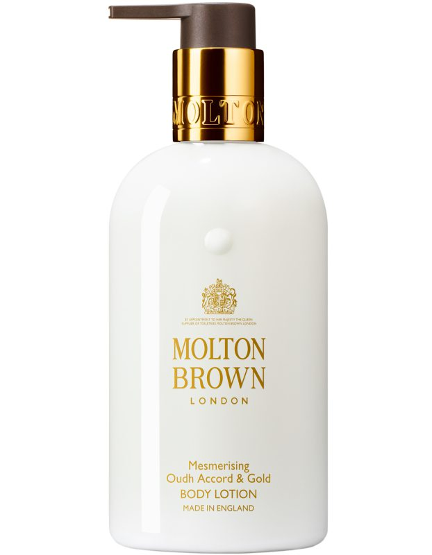 Molton Brown Oudh Accord & Gold Body Lotion (300ml) i gruppen Kroppspleie & spa / Fuktighet / Bodylotion hos Bangerhead.no (B017939)