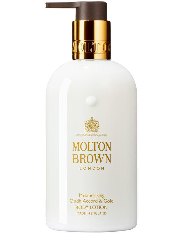 Molton Brown Oudh Accord & Gold Body Lotion (300ml) i gruppen Kroppsvård / Kroppsåterfuktning / Body lotion hos Bangerhead (B017939)
