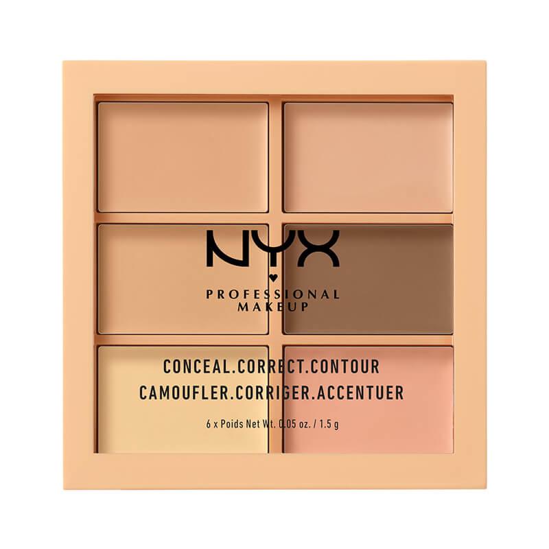 NYX Professional Makeup 3C Palette - Conceal, Correct, Contour i gruppen Makeup / Base / Concealer hos Bangerhead.no (B018552r)