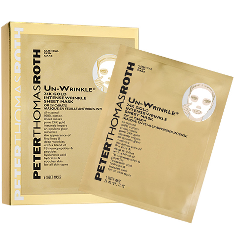 Peter Thomas Roth 24K Gold Intense Wrinkle Sheet Mask i gruppen Hudpleie / Masker & treatments / Sheet masks hos Bangerhead.no (B019448)