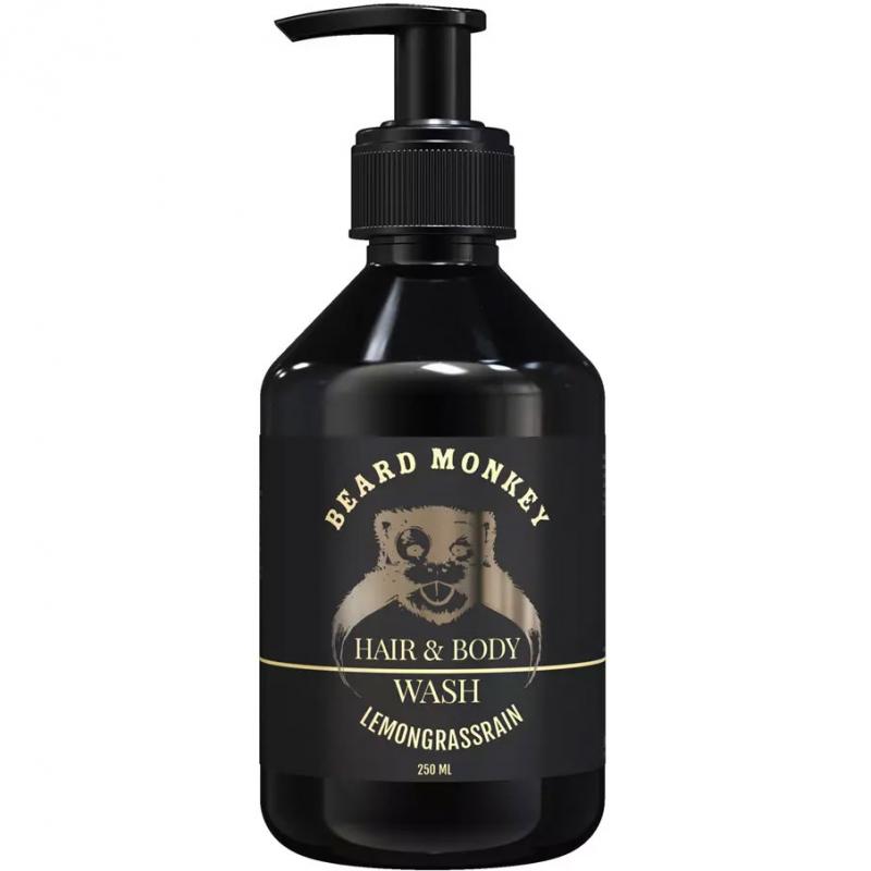 Beard Monkey Hair & Body Shampoo Lemongrass i gruppen Grooming / Hårvård för män / Schampo för män hos Bangerhead (B019607)
