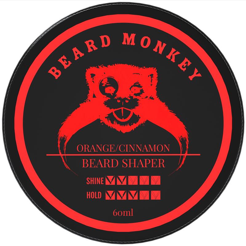 Beard Monkey - Beard Shaper - Orange/Cinnamon i gruppen Man / Rakning & grooming för män / Groomingolja & vax hos Bangerhead (B019611)