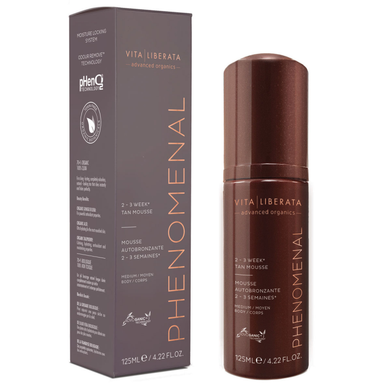 Vita Liberata Phenomenal 2 - 3 Week Self Tan Mousse i gruppen Hudpleie / Sol & tan for ansikt / Selvbruning for ansikt hos Bangerhead.no (B019825r)