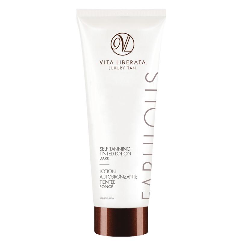 Vita Liberata Fabulous Self Tanning Tinted Lotion - Dark i gruppen Kroppsvård & spa / Sol & tan för kropp / Brun utan sol för kropp hos Bangerhead (B019833)