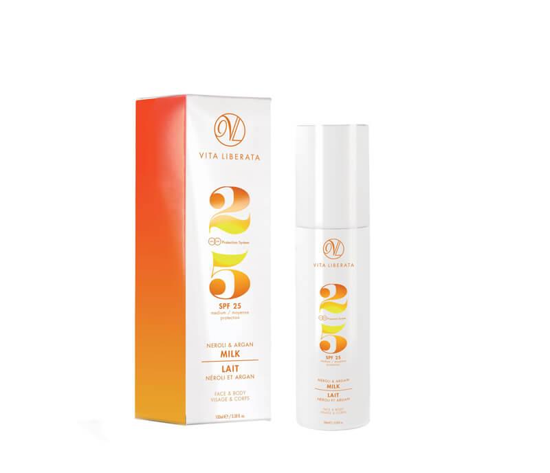 Vita Liberata Neroli & Argan Milk SPF 25 i gruppen Kropp & spa / Sol & tan for kropp / Solfaktor hos Bangerhead.no (B020121)