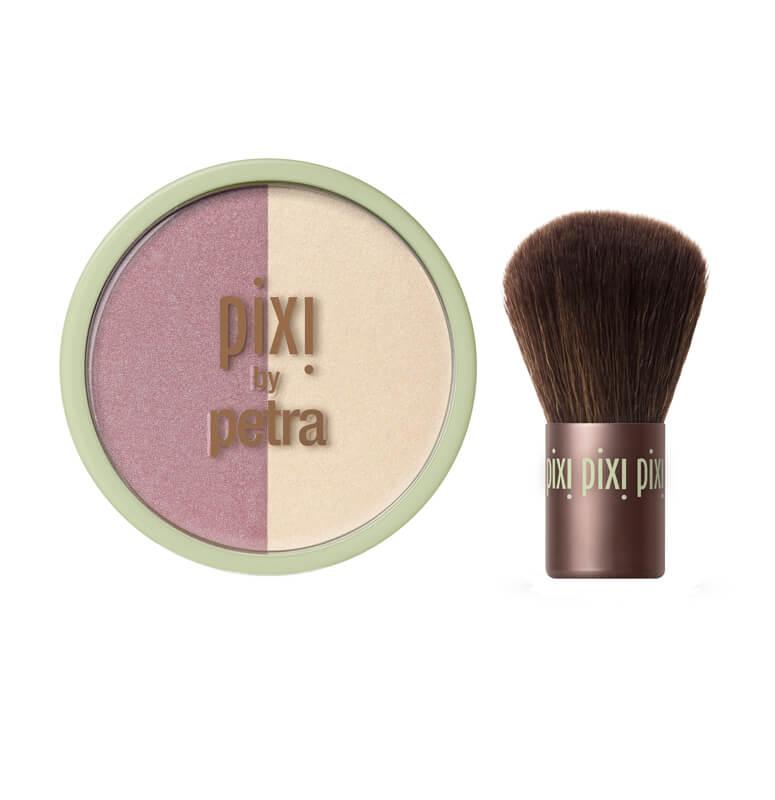 Pixi Beauty Blush Duo + Kabuki  i gruppen Makeup / Bas / Puder hos Bangerhead (B020264r)