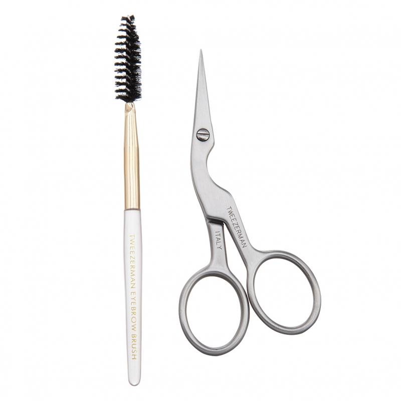 Tweezerman Brow Shaping Scissors & Brush i gruppen Makeup / Borstar & verktyg / Pincetter & ögonbrynsverktyg hos Bangerhead (B020409)