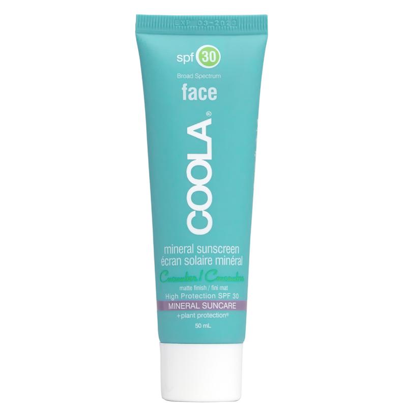 Coola Mineralface SPF 30 Matte Cucumber (50ml) i gruppen Hudvård / Sol & tan för ansikte / Solskydd & hudkräm med SPF hos Bangerhead (B021448)