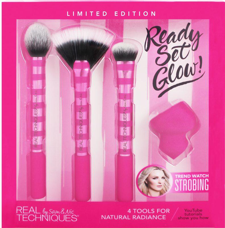 Real Techniques Ready Set Glow Kit i gruppen Smink / Sminkborstar / Borstset hos Bangerhead (B022394)