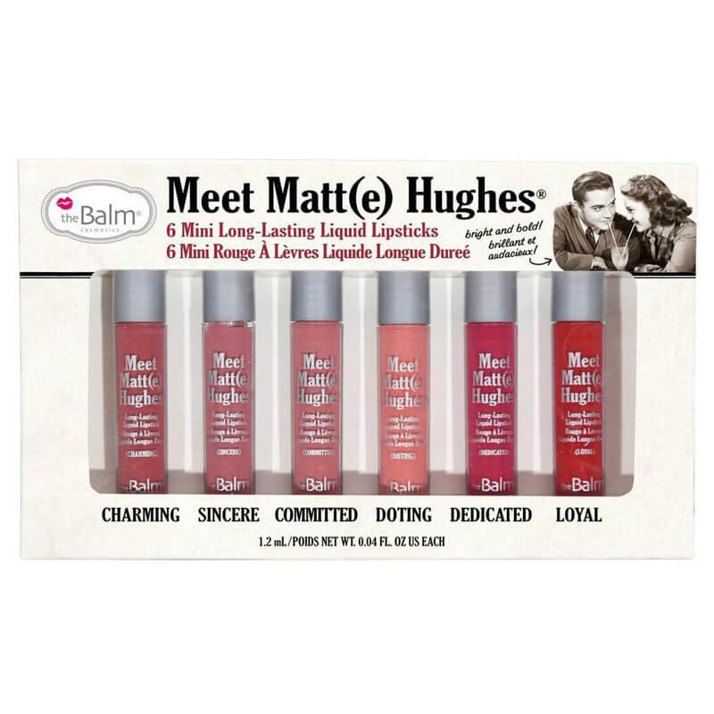 Thebalm Meet Matte Hughes Set - 6 Mini Long-Lasting Lipstick