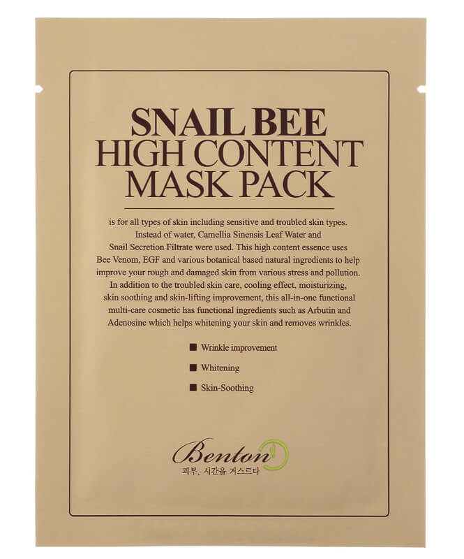 Benton Snail Bee High Content Mask (Pack 1-Pack)