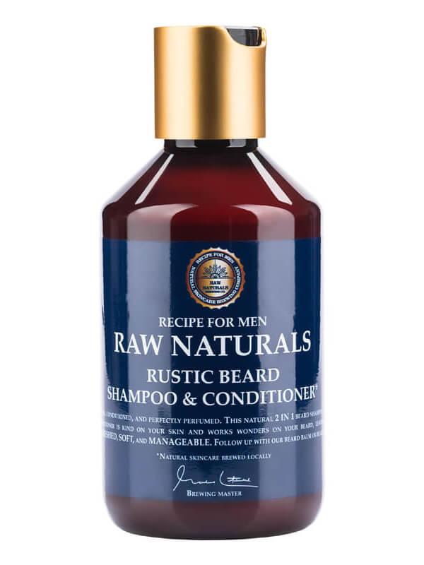 Raw Naturals Rustic Beard Shampoo & Conditioner (250ml) ryhmässä Miehet / Ihonhoito miehille / Puhdistustuotteet miehille at Bangerhead.fi (B023733)