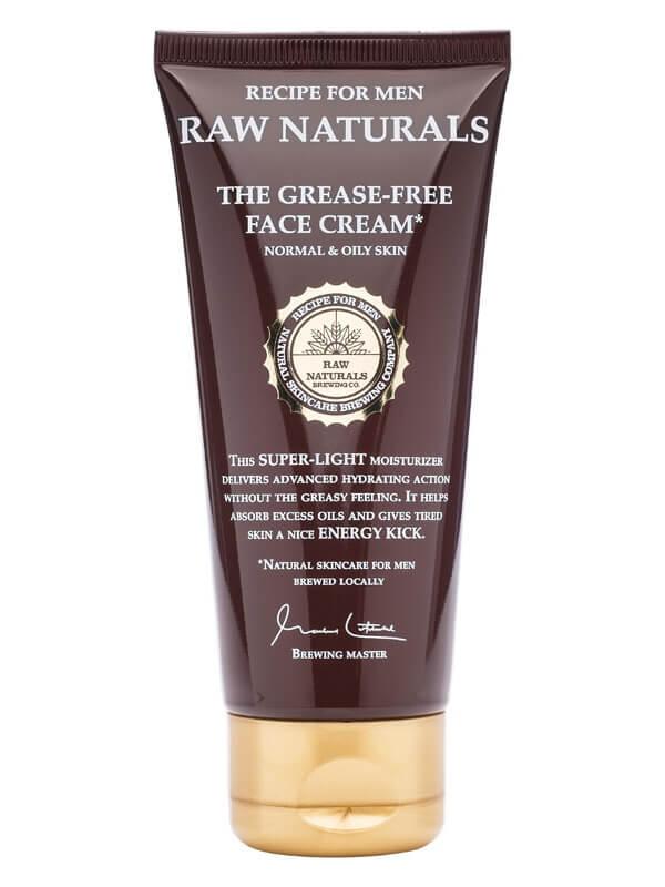 Raw Naturals The Grease-Free Face Cream (100ml) ryhmässä Miehet / Ihonhoito miehille / Kasvovoiteet miehille at Bangerhead.fi (B023737)