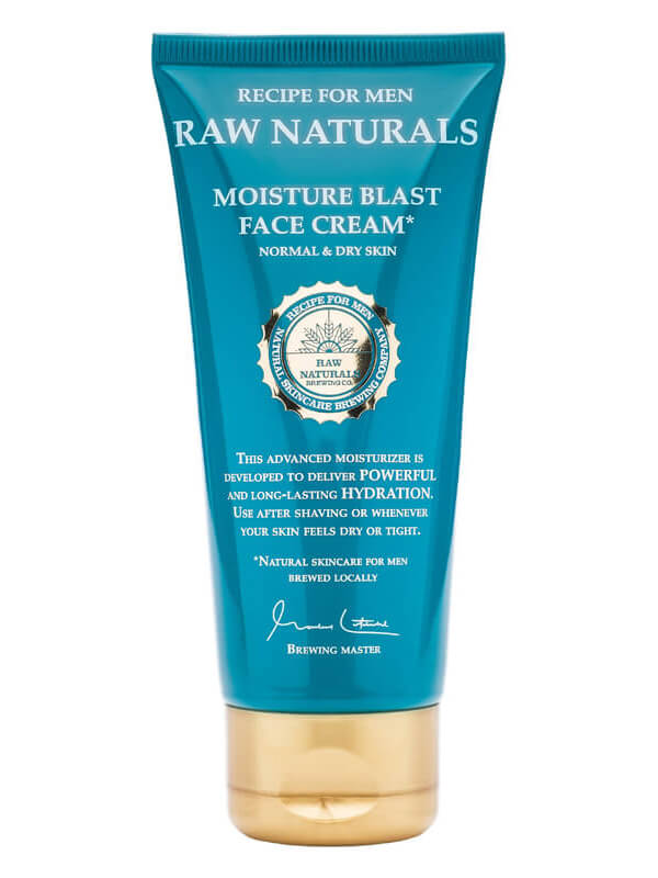 Raw Naturals Moisture Blast Face Cream (100ml) i gruppen Man / Hudvård för män / Ansiktskräm för män hos Bangerhead (B023738)
