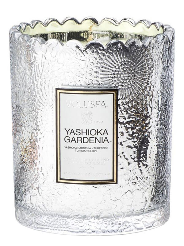 Voluspa Boxed Scalloped Candlepot 50 Tim Yashioka Gardenia (176g)