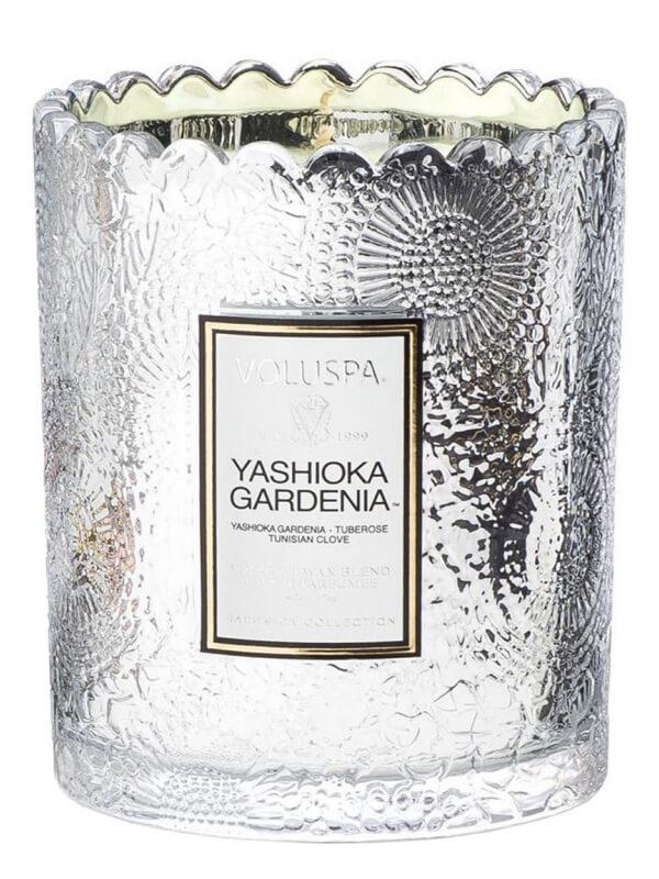 Voluspa Boxed Scalloped Candlepot 50 Tim Yashioka Gardenia (176g)