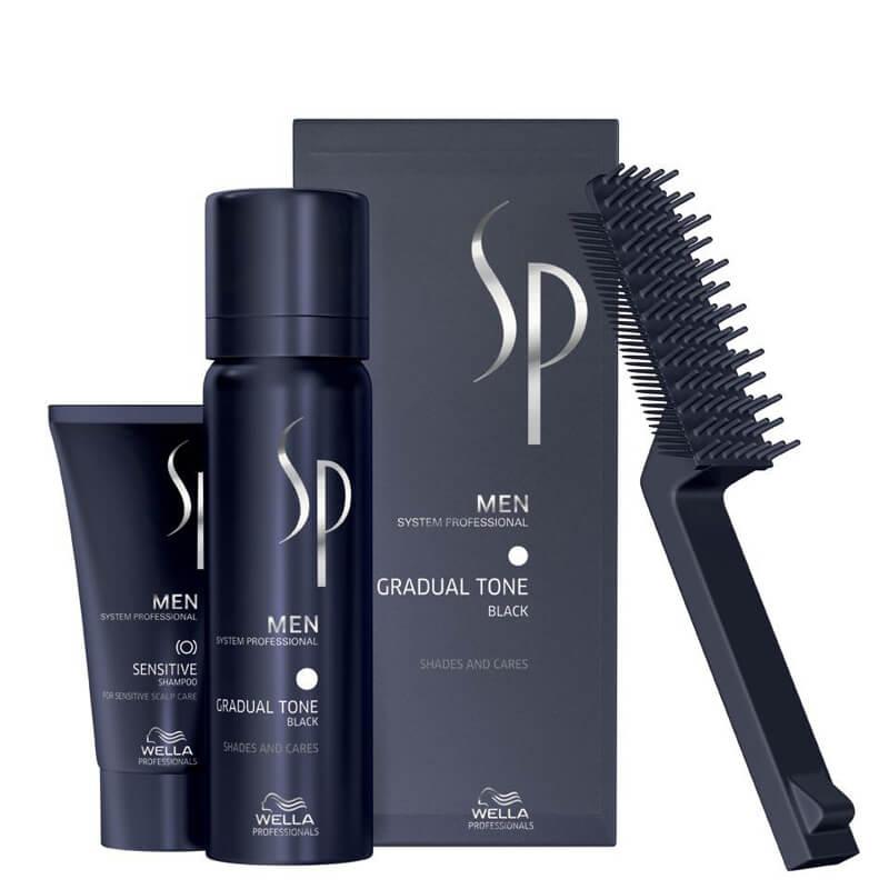 Wella Men Shading Gradual Tone Black (60ml) i gruppen Man / Rakning & grooming för män / Färgning för män hos Bangerhead (B024197)