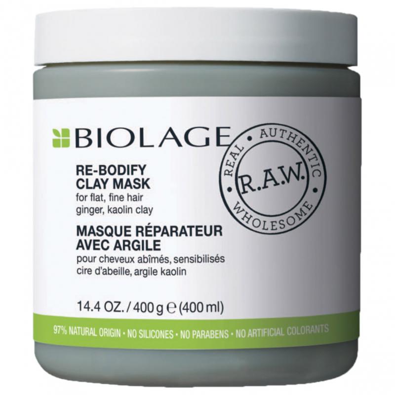 Biolage R.A.W. Uplift Re-Bodify Clay Mask (400ml) i gruppen Hårvård / Hårinpackning & treatments / Treatments hos Bangerhead (B024361)