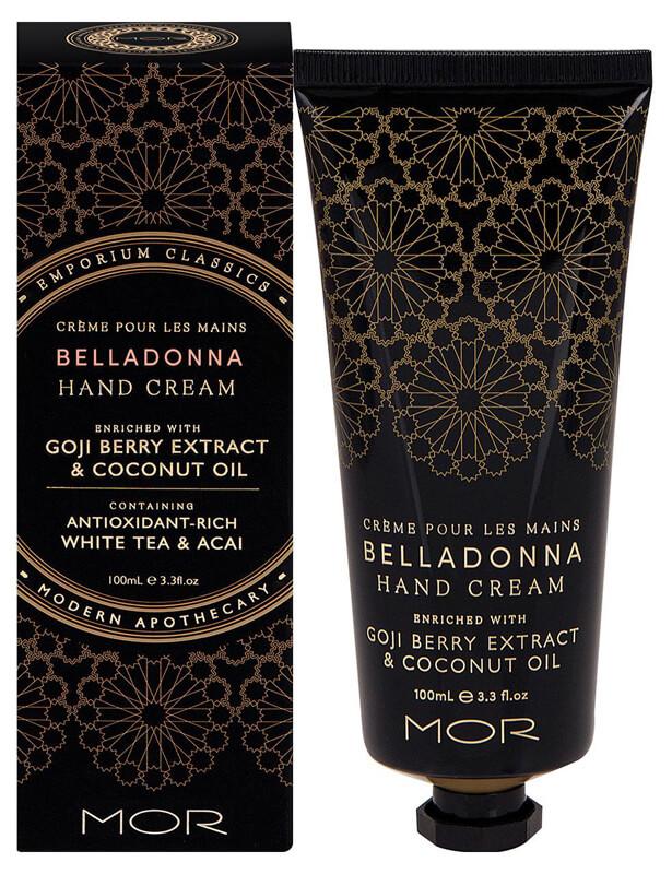Mor Emporium Classics Hand Cream (100ml) Belladonna ryhmässä Vartalonhoito & spa / Kädet & jalat / Käsivoiteet at Bangerhead.fi (B025012)