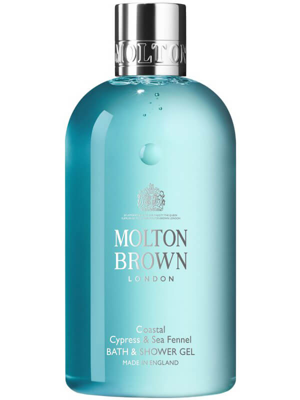 Molton Brown Coastal Cypress & Sea Fennel Bath & Shower Gel (300ml) ryhmässä Vartalonhoito  / Vartalonpuhdistus & -kuorinta / Suihkusaippua at Bangerhead.fi (B025785)